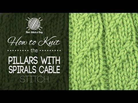 ▶ How to Knit the Pillars with Spirals Cable Stitch - YouTube