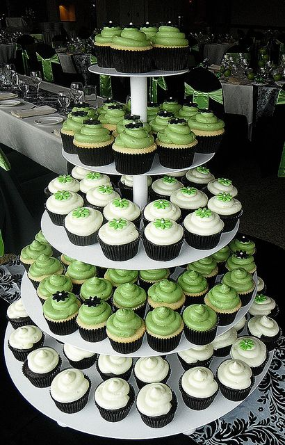 apple green and black weddings | apple green & black and white wedding cupcakes | Flickr - Photo ...