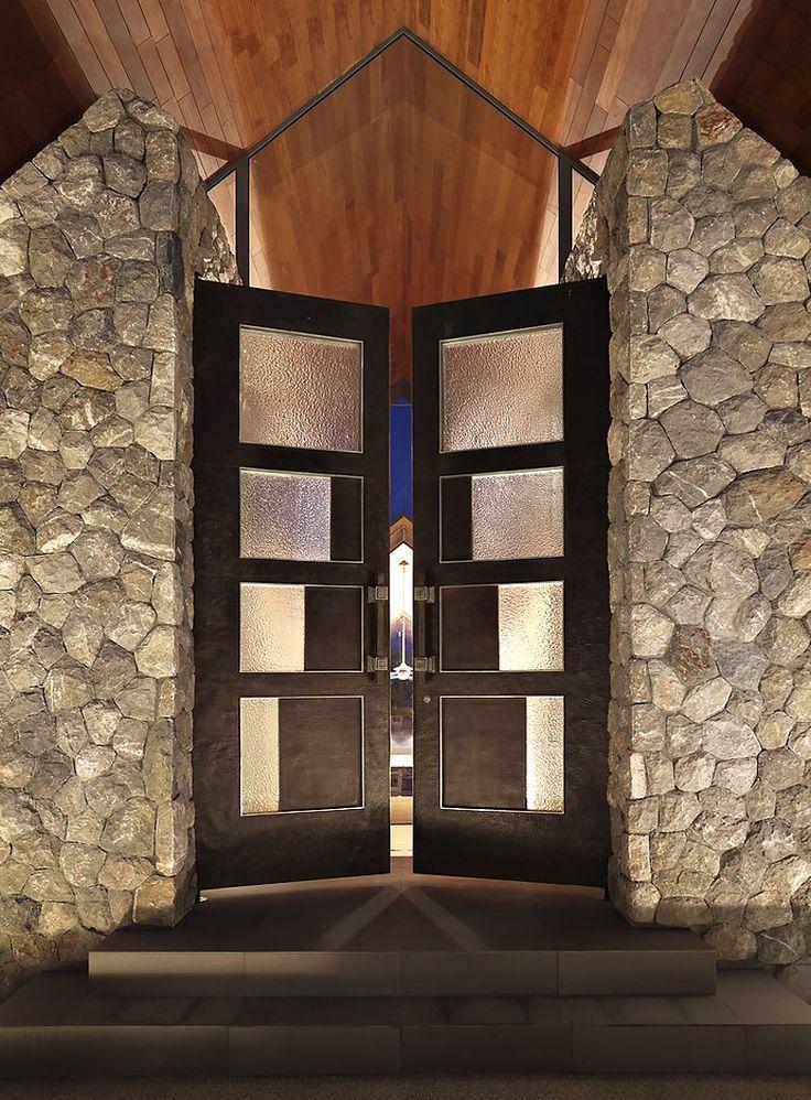 incredible front doors: Oceanfront Villas, Entry Doors, Doors Design, Asian Style, Design Ideas, Stones Wall, Interiors Design, Front Doors, Ocean Scene