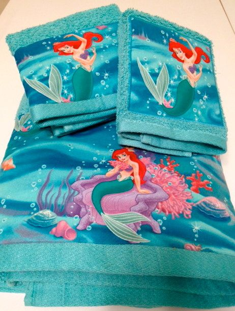 Hey, I found this really awesome Etsy listing at http://www.etsy.com/listing/110744568/little-mermaid-movie-themed-towel-set
