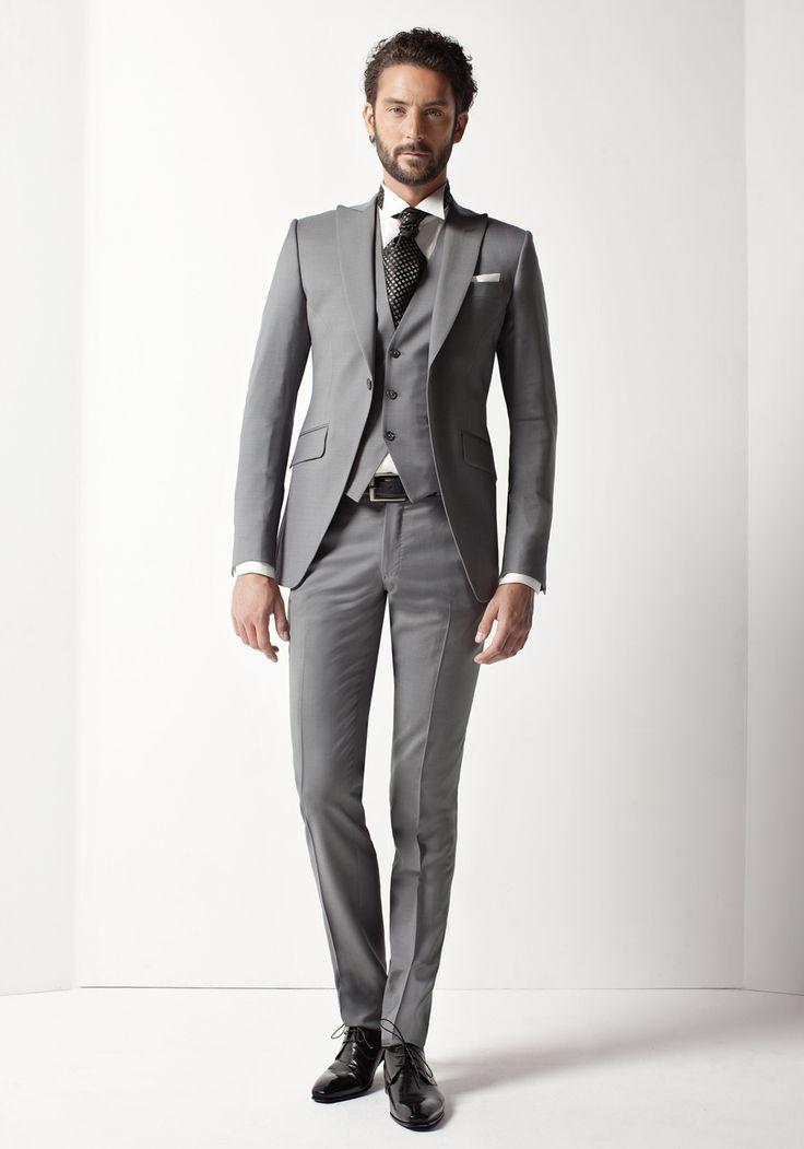 costume 3 pi ces gris clair jean de sey costumes de. Black Bedroom Furniture Sets. Home Design Ideas