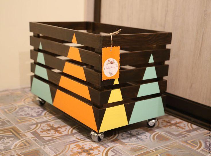 Купить Ящик для игрушек - коричневый, ящик, ящик для хранения, ящик для игрушек, ящик в детскую