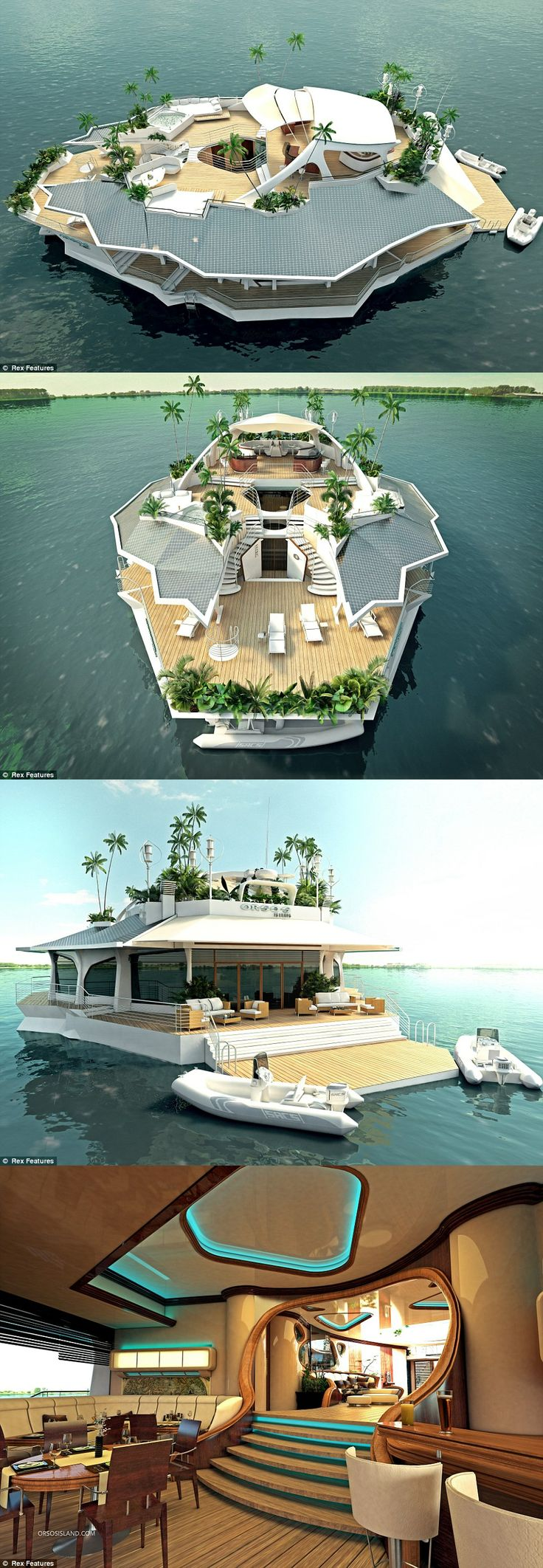 Orsos Island | Floating, Luxury Yacht. Amazing what people can dream up and then build!
