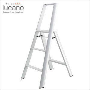 【送料無料】【lucano(ルカーノ)】【脚立】【おしゃれな踏台】3-step(3段)ホワイトML2.0-3(WH)3step