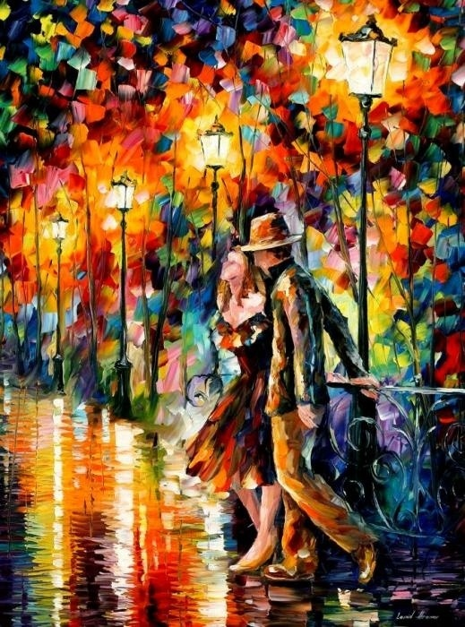 love all the colors!!: Colour, Artists, Oil Paintings, Tempter Paintings, Leonidafremov, Colors, Beautiful, Afremov Tempter, Leonid Afremov