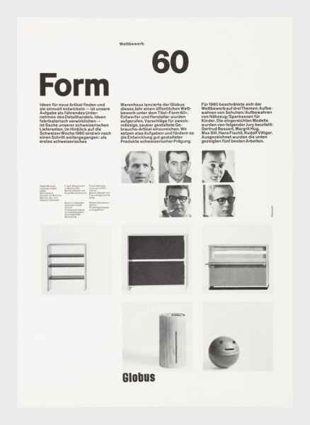 Form 60 Globus, 1960 Siegfried Odermatt