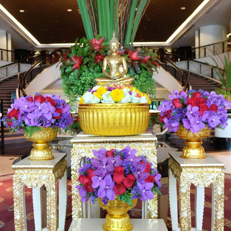 We're all set for Songkran. Are you? Join us in The Lobby where we've arranged everything ready for a sweet Songkran, fragrant water-pouring ritual.    สรงน้ำพระในเทศกาลวันสงกรานต์ เพื่อความเป็นสิริมงคลในวันปีใหม่ไทยกันนะคะ