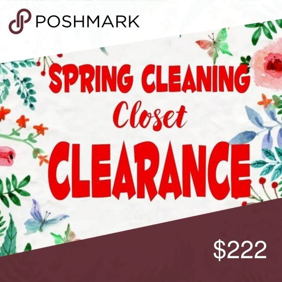 Spring closet clearout! Time to spring clean! Check out my sales and send me off…