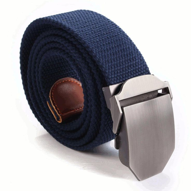 Mens Military Style Belt Adjustable Slider Buckle Weave Canvas Web Waistband at Banggood men fashion accessories