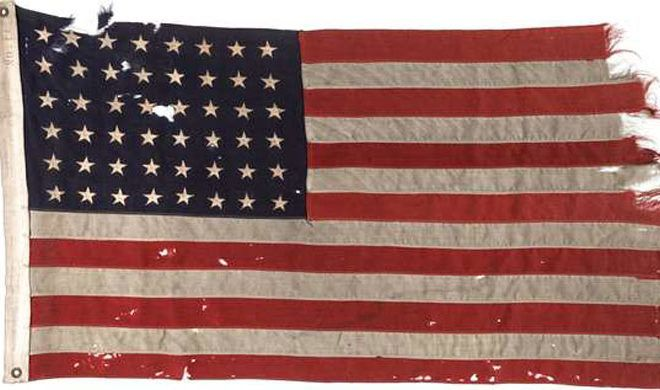 American Flag from D-Day Sells at Dallas Auction for $514K