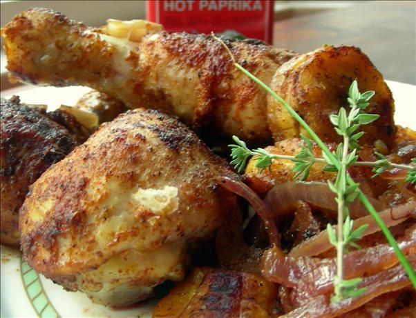 Roast Chicken With Plantains and Onions from Food.com:I Was Introduced ...