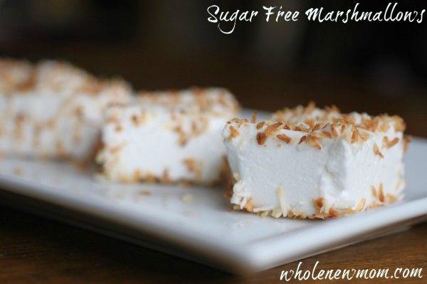 Homemade Marshmallows - Sugar Free Option!