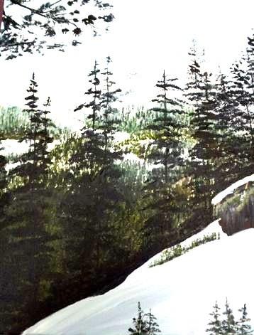 Artists Emporium: Beautiful Winter Scene of Banff