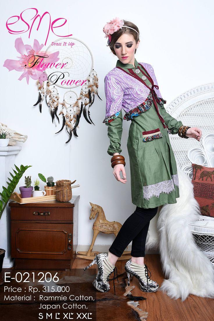 flower power dress muslim fashion S lingkar dada 84 cm, M Lingkar dada 90 cm, L lingkar dada 96 cm, XL lingkar dada 104 cm, XXL lingkar dada 110 cm Berat : Kg Harga: Rp 315.000 Kode Produk: E-021206