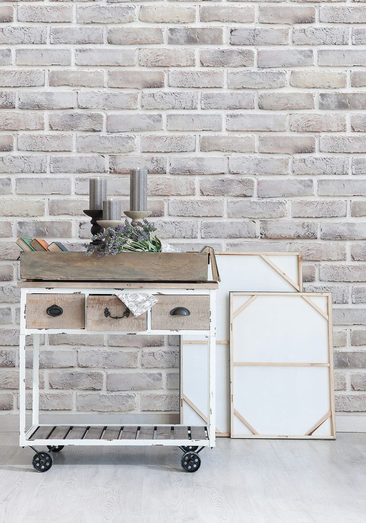 Lime Washed Brick Wallpaper By Milton King Interior