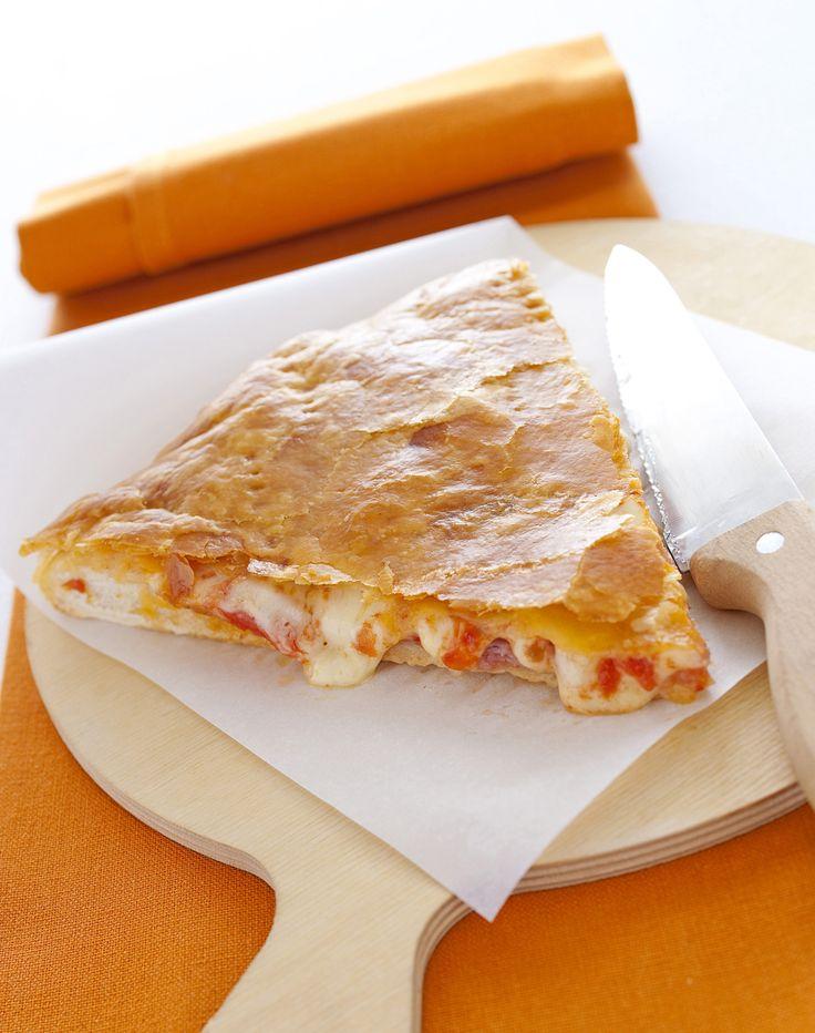 La pizza con la pasta sfoglia