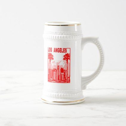 Los Angeles Beer Stein - decor diy cyo customize home