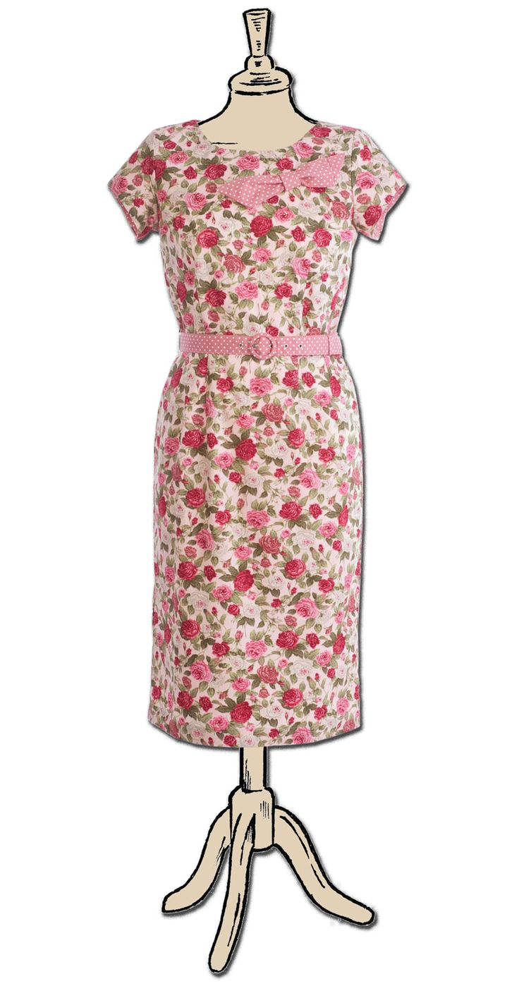 June dress. Also in other colourways. Limited edition. Available now on Etsy https://www.etsy.com/uk/listing/286859715/june-dress-pink-floral?ref=shop_home_active_8