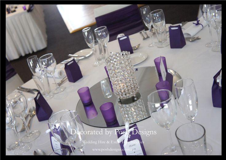 #purplewedding #crystalhurricane #purpletealightholders #theming available at #poshdesignsweddings - #sydneyweddings #southcoastweddings #wollongongweddings #canberraweddings #southernhighlandsweddings #campbelltownweddings #penrithweddings #bathurstweddings #illawarraweddings  All stock owned by Posh Designs Wedding & Event Supplies – lisa@poshdesigns.com.au or visit www.poshdesigns.com.au or www.facebook.com/.poshdesigns.com.au #Wedding #reception #decorations #Outdoor #ceremony…