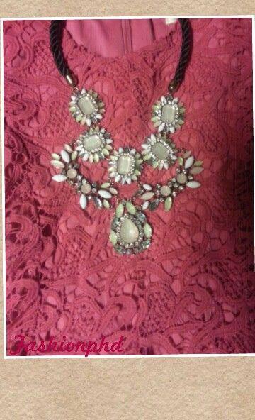 Crochet plus statement necklace