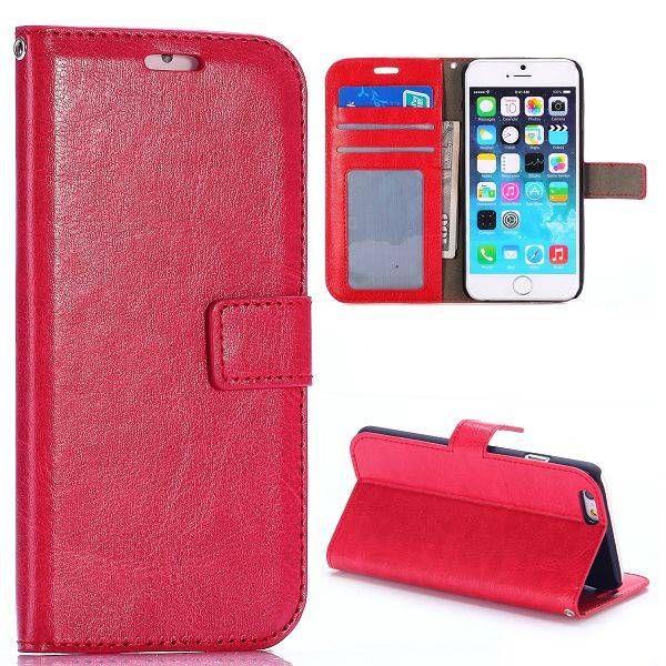 Glad rood 3-in-1 booktype hoesje voor iPhone 6