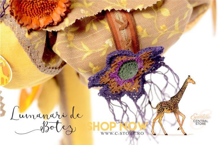 www.tonimalloni-shop.com LUMANARE DE BOTEZ CU GIRAFA, JUNGLA