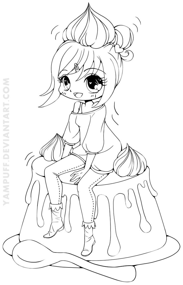 Coloring pages gone wrong - Creme Caramel Chiharu Lineart By Yampuff On Deviantart