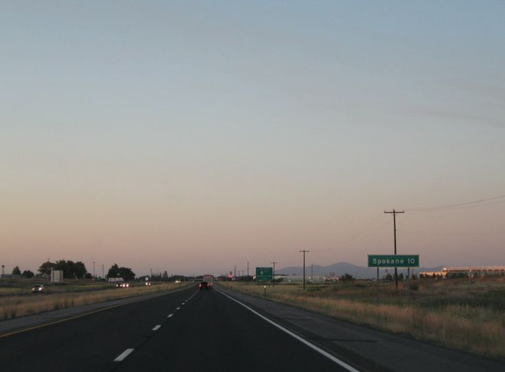 Interstate 90 Mileage sign (Spokane)