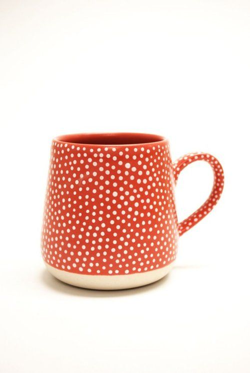 Red cup with white dots - Robert Siegel