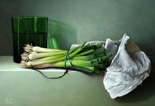 Still Life with Spring Onions / Erik van de Beek