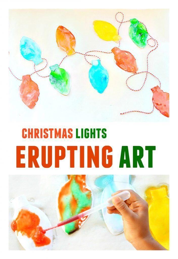 christmas lights art project