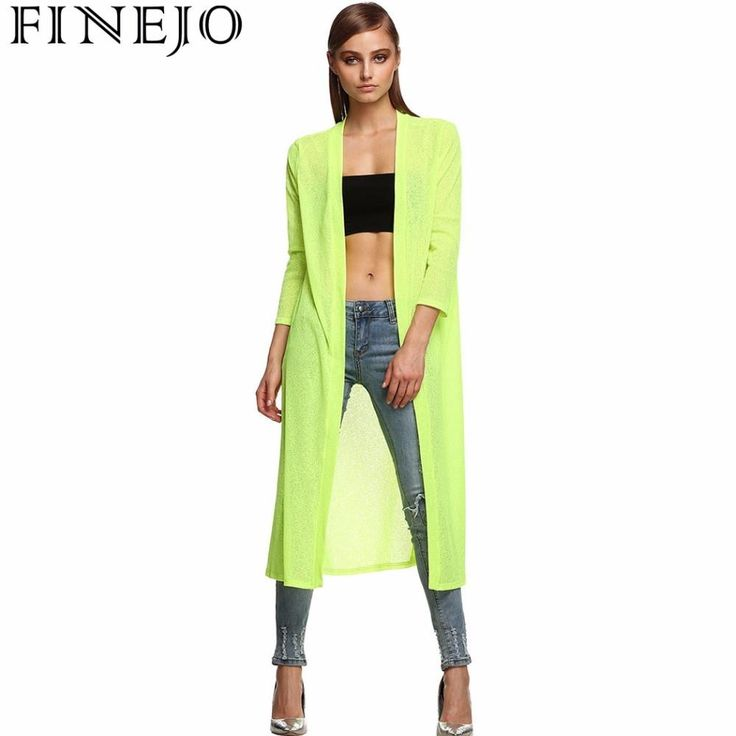 FINEJO Fashion Stylish Ladies Long Blouse Shirts Summer Solid Open Front Sides Split Loose Beach Cover Up Outwear Women Top  #styles #instastyle #shopping #stylish #model #beautiful #beauty #streetstyle #sweet #glam