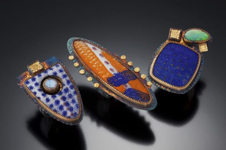 Art Jewelry, Julie Shaw, Artist (2012 NICHE Art Finalist), Rings