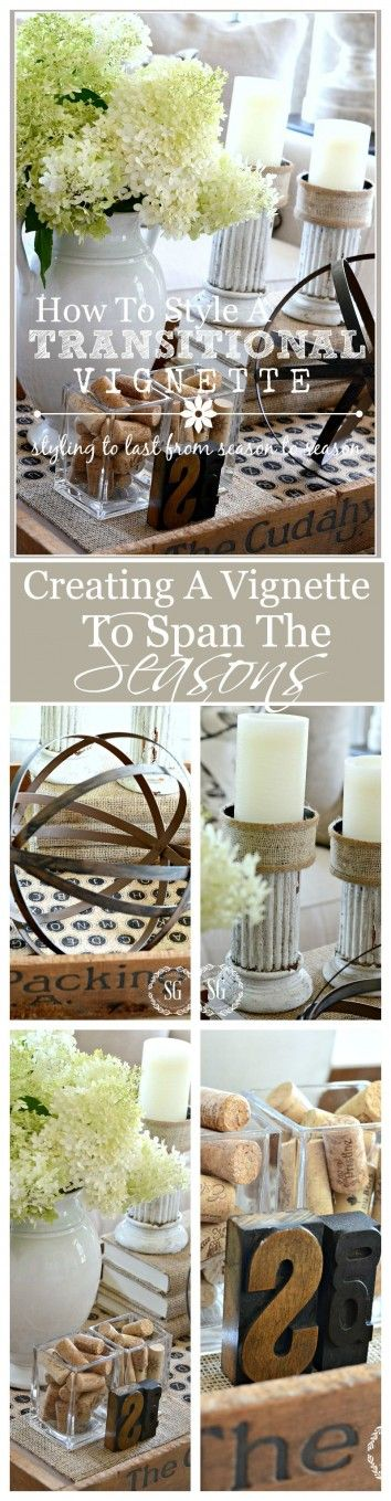 HOW TO CREATE A TRANSITIONAL VIGNETTE Styling a gorgeous vignette to work from now until Thanksgiving!