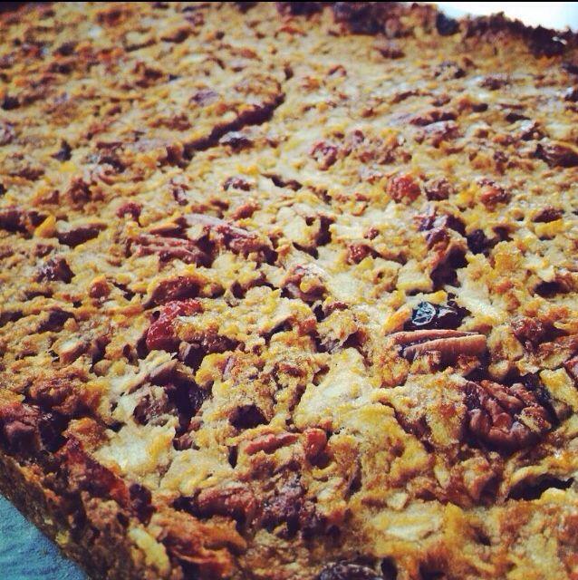 Glutenvrije apple-crumbletaart