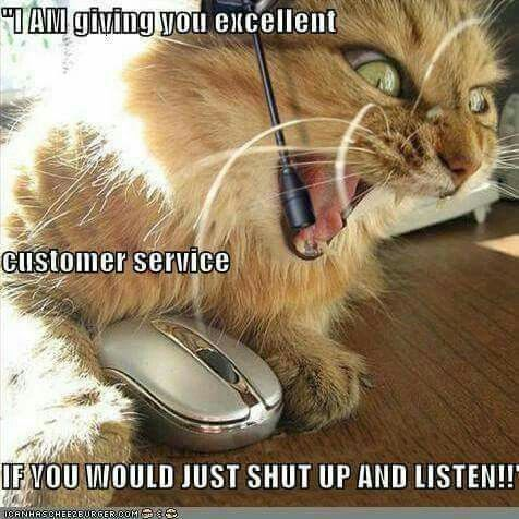 I am giving you excellent customer service!