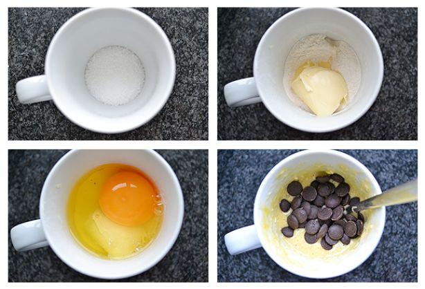 Easy, 30 seconden cupcake uit de magnetron in een beker!