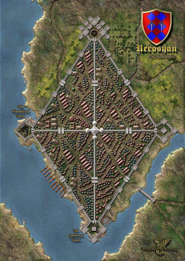 map fantasy maps deviantart rus pathfinder absalom cities town rpg paizo cartography dragons random
