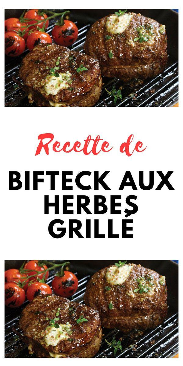 #grillés #herbes #bifteck