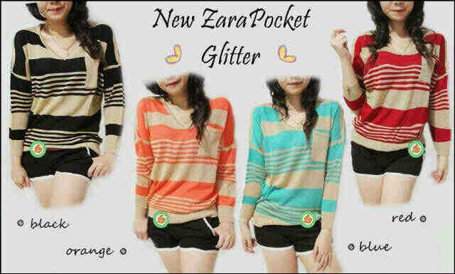"""Zara Pocket lengan panjang"" Ready Stock Harga Rp 44000 Tersedia 4 warna"