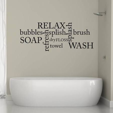 Bathroom Art Ideas best 25+ bathroom wall stickers ideas on pinterest | bathroom wall