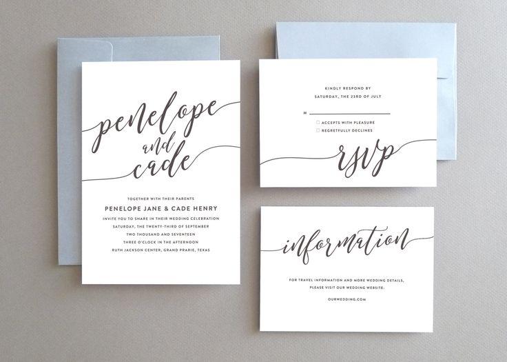 Wedding Invitation Wedding Invites Printable by Oakhouse on Etsy
