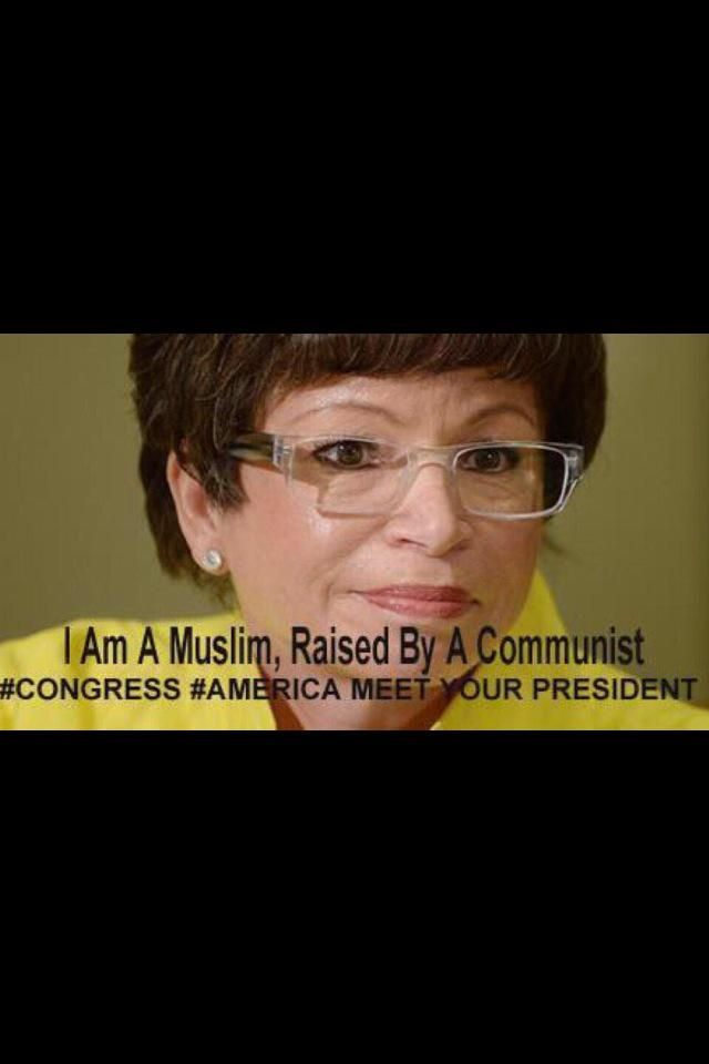 "Valerie Jarrett,(addressing students at Standford University 1977)Said:""I AM AN IRANIAN BY BIRTH & OF MY ISLAMIC FAITH. I AM AlSO AN AMERICAN CITIZEN & I SEEK TO HELP CHANGE AMERICA TO BE A MORE ISLAMIC COUNTRY. MY FAITH GUIDES ME AND I FEEL LIKE IT IS GOING WELL IN THE TRANSITION OF USING FREEDOM OF RELIGION IN AMERICA AGAINST ITSELF"" (She was/has proved all those many years ago to be aligned against America. Will she pick the next ""President in 2016""? csw)"