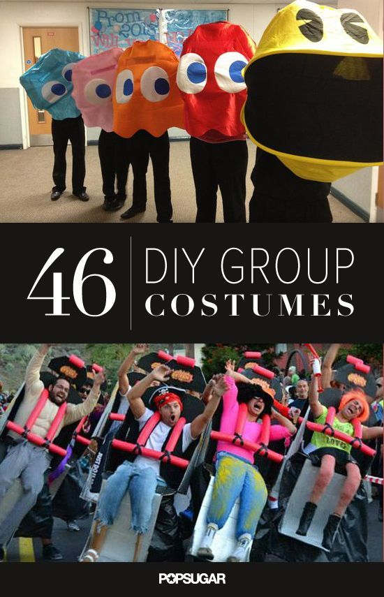 OH MY GOSH!!  THIS.IS.AWESOME! I had to take a second and third look to figure out all that was going on with the roller coaster costumes! The most awesome DIY group costumes.