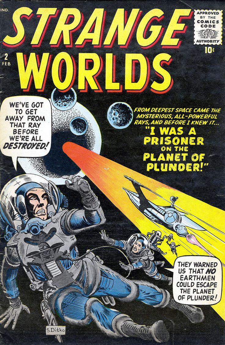 Strange Worlds #2, February 1959, Pencils/Inks: Steve Ditko, Colors: Stan Goldberg
