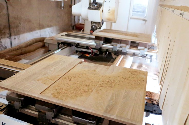 The boards are then cut out with the needed details for the next stage. #wood #design #cutting #desk #wewood
