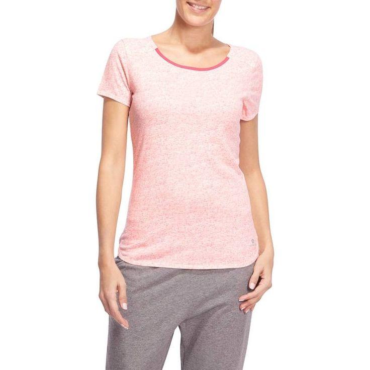 Fitness - Roupa Mulher   - T-shirt Ginástica Mulher DOMYOS - Partes de cima