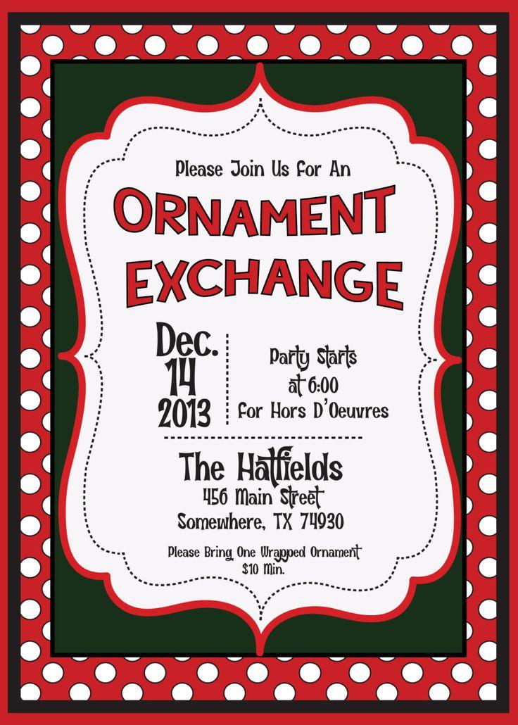 39 best Ornament Exchange Party images on Pinterest | Celebrations ...