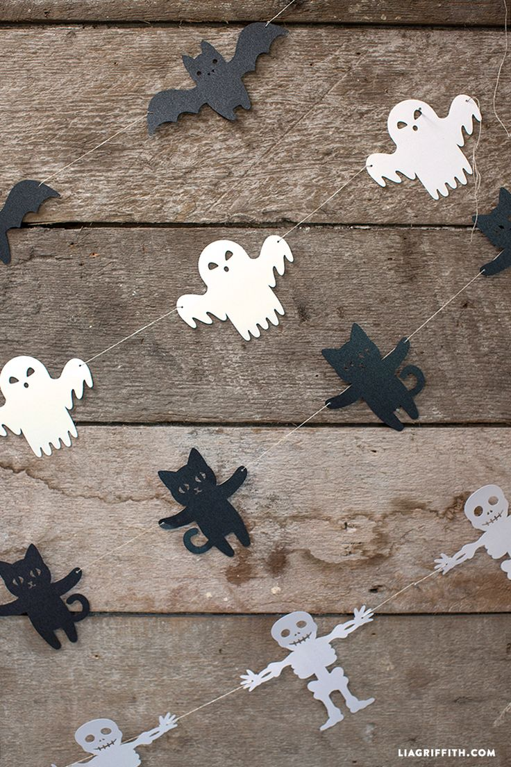DIY Halloweenská girlanda. DIY Garland for Halloween Decoration.