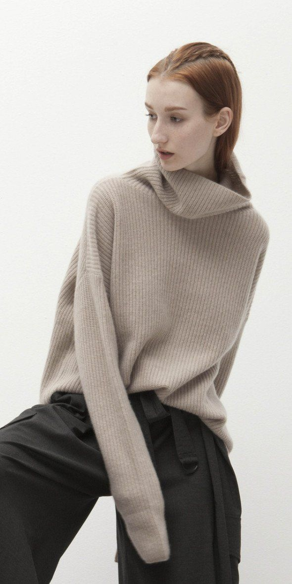 Cozy Cashmere Funnel Neck Sweater